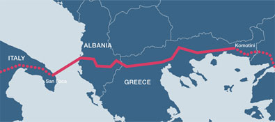 Accord politique sur le gazoduc TAP (Trans-Adriatic Pipeline)