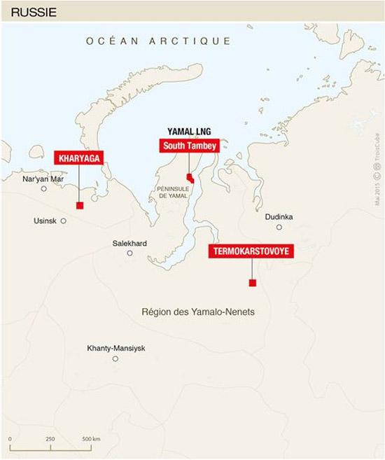 Sibérie : Démarrage de la production du champ de gaz de Termokarstovoye
