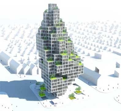 Sky Village, une éco-structure adaptable à Copenhague