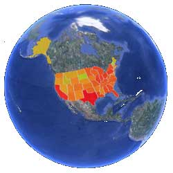 USA : les émissions de CO2 visibles sur Google Earth