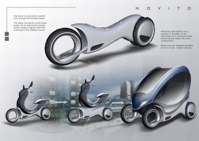 Un scooter électrique transformable en 2 places