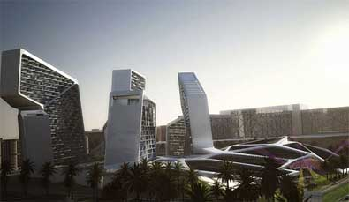 Dubaï : le Village vertical solaire par Graft Lab