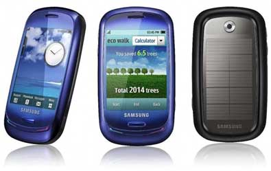 """Blue Earth"", le mobile solaire vu par Samsung"